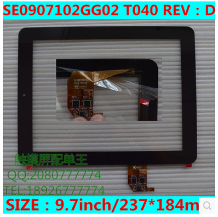 New 9.7 inch tablet capacitive touch screen SE0907102GG02 T040 REV:D E300210 free shipping