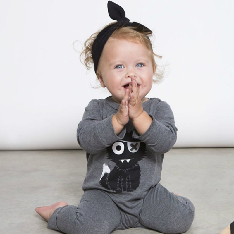 Cartoon Baby Boys Girls Clothes Long Sleeve Baby Rompers Newborn Cotton Baby Clothing Jumpsuit Infant Clothing 2017 lovely newborn baby rompers infant bebes boys girls short sleeve printed baby clothes hooded jumpsuit costume outfit 0 18m
