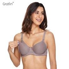 Gratlin нижнее белье для кормящих матерей размера плюс бюстгальтер для кормящих женщин