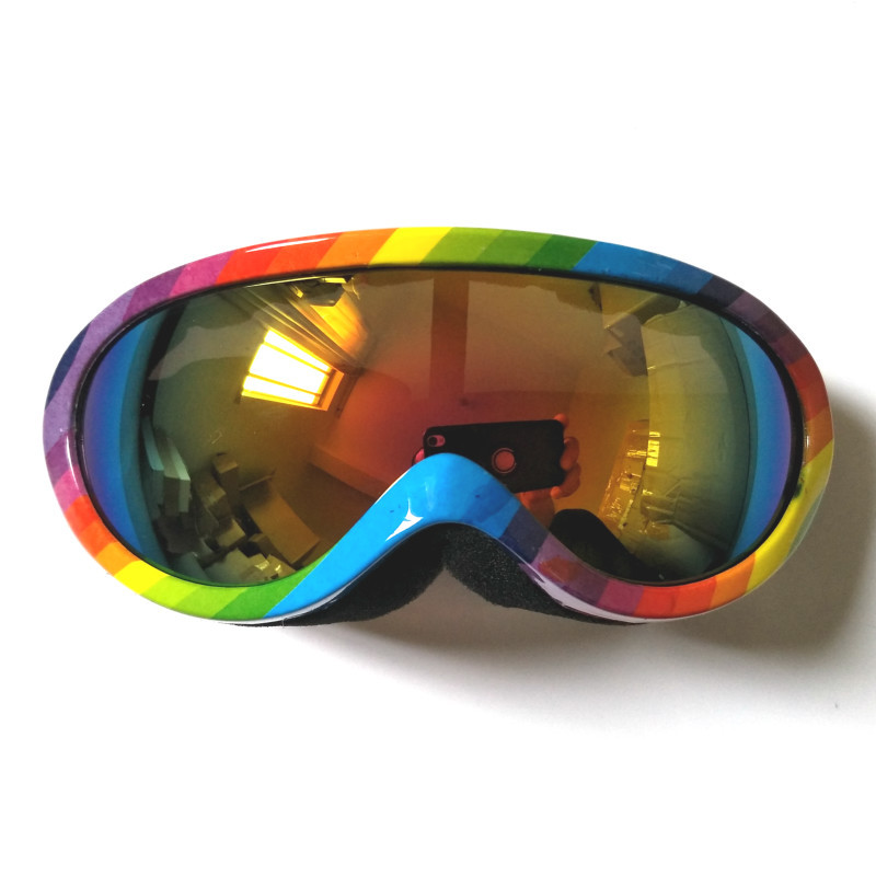 Kids Ski Goggles Double Layers Anti-Fog Skiing Glasses Snowboard Goggles Professional Spherical Lens Big Mask Ski Glasses