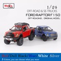 2017 New Maisto 1:24 Camioneta Ford f150 SVT Raptor todoterreno Modelo de Simulación de Aleación De Coche