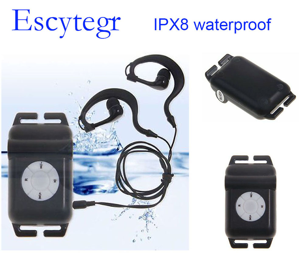IPX8 Level Waterproof MP3 Underwater Playing Songs 4GB/8GB Music Player With FM Radio For Swimming Running   Surfing SPA
