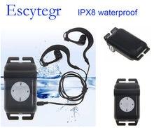 Lecteur de musique MP3 sous-marine avec Radio FM, 4 go/8 go, étanche IPX8, pour natation, course, surf, SPA
