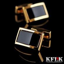 Запонки kflk для мужской рубашки брендовые запонки золотого