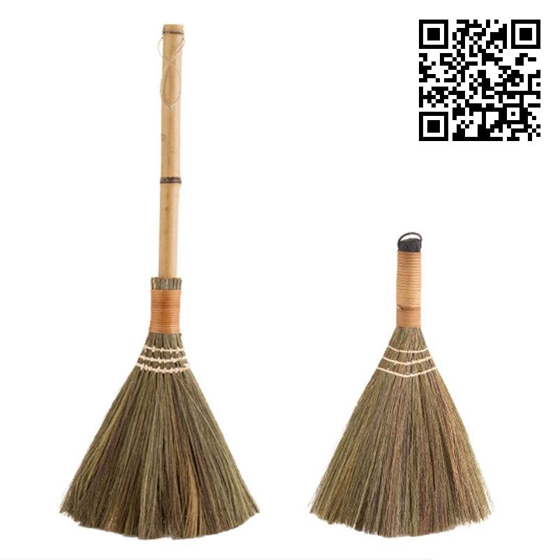 Vanzlife Wood Floor Sweeping Broom Soft Hair Fur Household Floor Cleaning Tools Manual Archaize Broom Sweeper