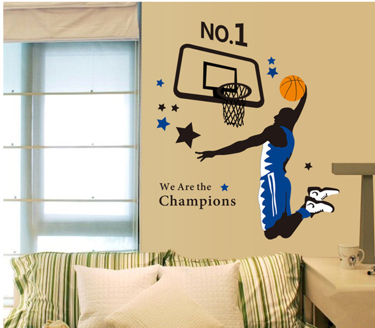 Sport Basketball Champion Wall Sticker Wall Decor Poster Art DIY ...