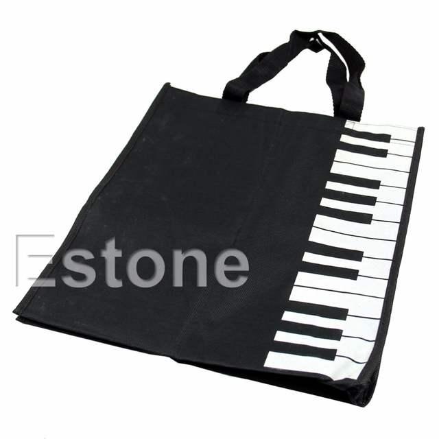 01d8189387e9 US $3.42 29% OFF|New Hot Fashion Black Piano Keys Music Handbag Tote Bag  Shopping Bag Handbag-in Top-Handle Bags from Luggage & Bags on  Aliexpress.com ...