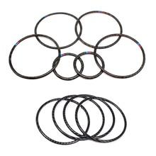 For BMW X5 X6 F15 F16 2014 2015 2016 2017 2018 Car Real Carbon Fiber Door Audio Speaker Ring Sticker Loudspeaker Cover недорого