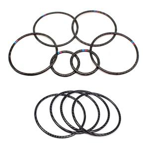 Image 1 - Para BMW X5 X6 F15 F16 2014 2015 2016 2017 2018 Puerta de fibra de carbono Real Audio altavoz anillo pegatina altavoz cubierta