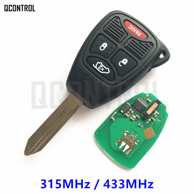 QCONTROL Remote Key with Chip for JEEP Vehicle Auto Liberty Wrangler Commander Patriot Compass Grand Cherokee Uncut Blade