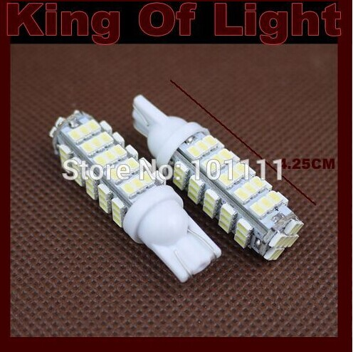 60X Car Auto LED T10 194 W5W 68 led smd 3020 68SMD Wedge LED Light Bulb Lamp White