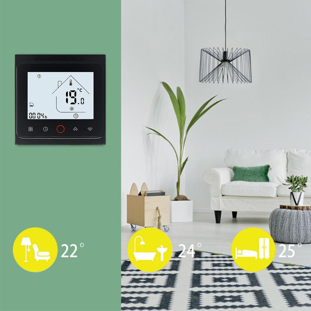 Thermostat intelligent WIFI 3A/16A régulateur de température de chaudière à gaz de chauffage par le sol électrique avec contrôle vocal d'écho - 3