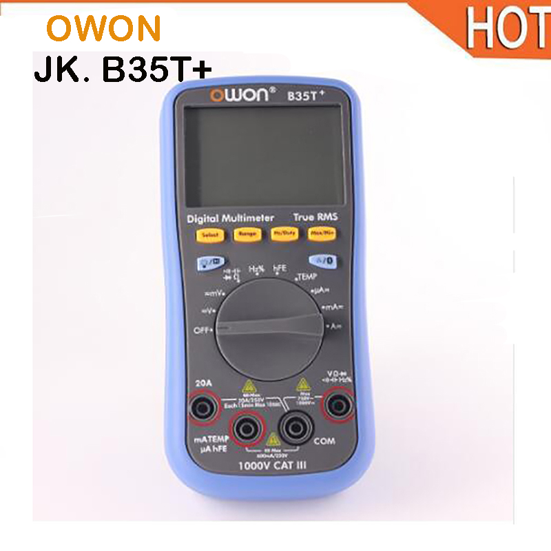 OWON B35T DM Series Digital Multimeter function as 3 in 1,multi-connection supported mobile app true rms multimeter bluetooth owon b35t 3 in 1 datalogger true rms multimeter temperature tester recording bluetooth 4 0 android