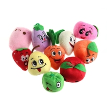 10PCS Cartoon Vegetables Fruit Finger Puppet Finger Toy Finger Doll Baby Cloth Educational Hand Puppet Toy Story -B116