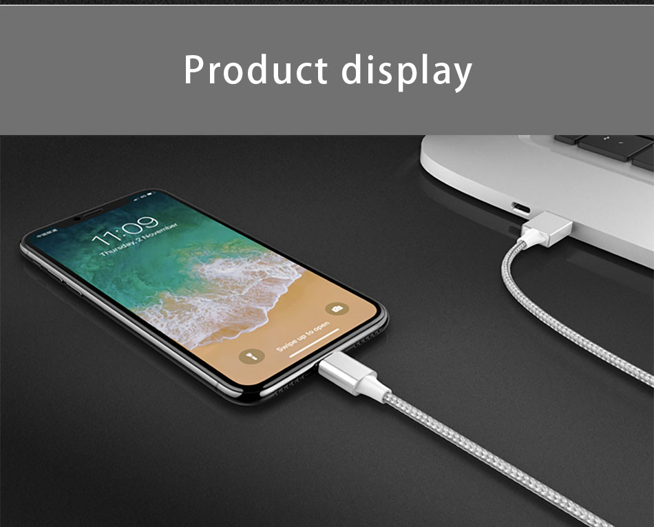 Universal Led 3 In 1 Magnetic Cable Charging&Sync Data Cord 8 Pin For iPhone X 8 Micro USB Type C For Samsung Charger Cables 1M (11)