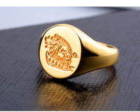 Hot Sale Kingsman The Secret Service Custom Signet Rings 925 Sterling Silver Gold Color Jewelry Customize