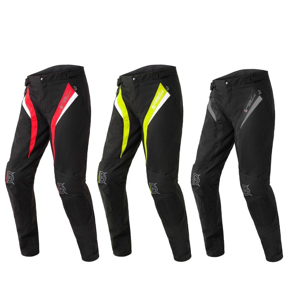 GHOST RACING noir rouge fluo vert moto pantalon de course chevalier pantalon imperméable Motocross pantalon avec protecteurs XXL