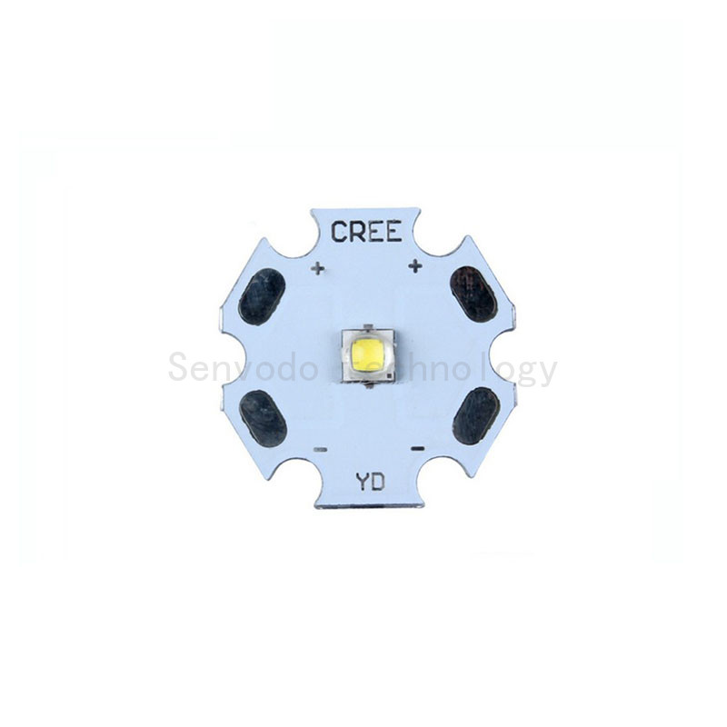 10X Original <font><b>CREE</b></font> Xlamps XPG2 <font><b>5W</b></font> high power <font><b>led</b></font> diode with 20mm heat sink free shipping image