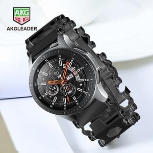Image 1 - Samsung Galaxy Watch 46mm Gear S3 newest watch strap bracelet bracelet Watch band For Garmin Fenix 3 hr 5x screw driver tools