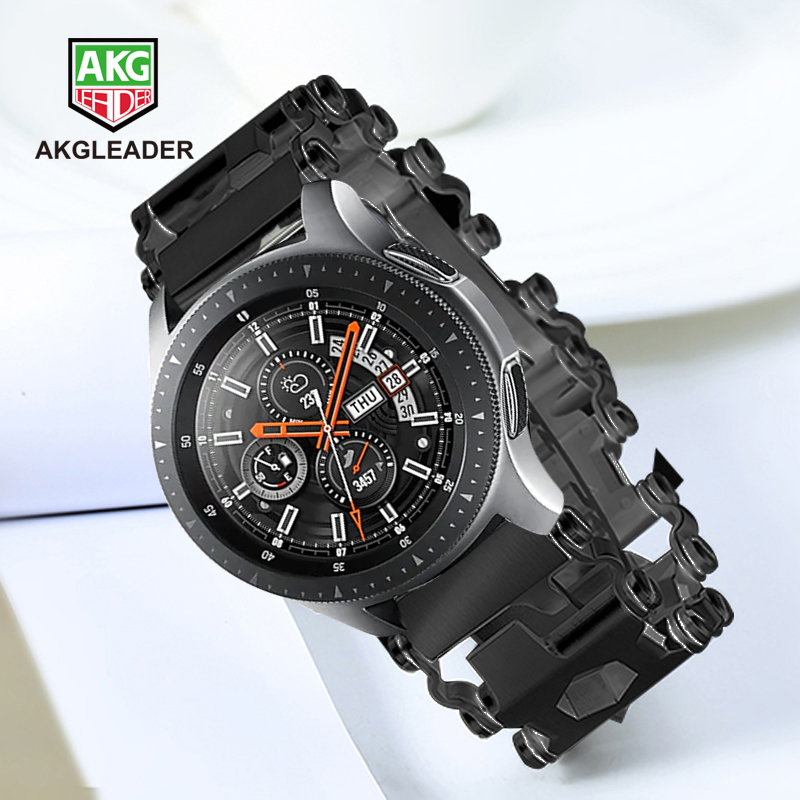 Samsung Galaxy montre 46mm Gear S3 date montre bracelet bracelet bracelet de montre pour Garmin Fenix 3 hr 5x tournevis outils