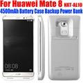50 pçs/lote fedex livre para huawei mate8 4500 mah power bank backup externo de bateria case capa para huawei mate 8 nxt-al10 hm83