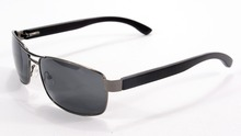 Lleno borde De madera del marco del Metal Gafas piernas Gafas Unisex Gafas De Sol polarizadas Flexible protección UV400 Eyewear Gafas De Sol Hombre 1512