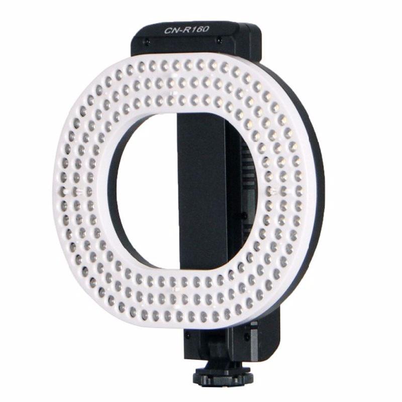 NanGuang CN-R160 LED Video Light 5600K/3200K Independent dimming ring LED light for Canon Nikon Sony DSLR DV Cameras nanguang cn 900csa dimmable illumination 900pcs led beads led vedio fill light lamp for canon nikon dslr camera