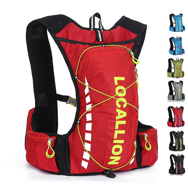 LOCAL LION 8L Professional Outdoor Cycling Bicycle Bike Backpack Packsack Running Backpack Fishing Vest Bag <font><b>Hydration</b></font> Pack