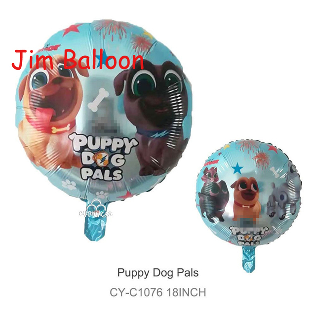 Wholesale 2pcs Lot Puppy Dogs Pals Balloon Dog Inflatable Happy Birthday Party Decorations Globos
