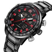 NAVIFORCE Мужские кварцевые аналоговые часы Роскошные светодиодный светодиодные спортивные наручные часы водостойкие мужские часы Relogio Masculino