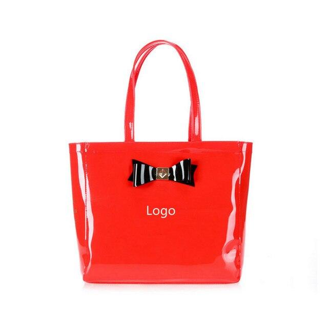 Бабочка сумка прекрасный пвх водонепроницаемый тед мешок красочные желе сумки женщины сумочку с оригинальный логотип БЕСПЛАТНАЯ ДОСТАВКА