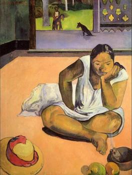 High quality Oil painting Canvas Reproductions Brooding Woman (1891) by Paul Gauguin hand painted