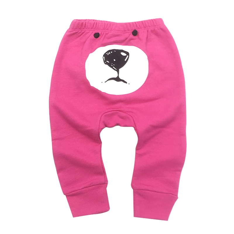 Newborn Toddler Infant Baby Girl Pants Harem PP Trousers Cotton Pink Love Babies Clothes 6-24M