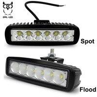 2pcs 18w DRL LED Work Light Worklight 10 30V Free Shipping 12 Volt Led Work Lights