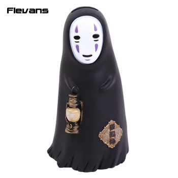 Cute Anime Cartoon Spirited Away No Face Faceless Man PVC Figure Collectible Model Toy Piggy Bank 2 Styles 16cm