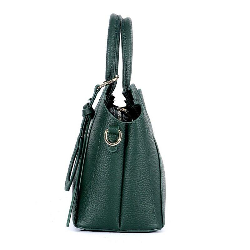 YUFANG femmes épaule messenger sacs dames en cuir véritable sac à main marque de haute qualité sac à bandoulière femme petit fourre-tout sac à main - 3
