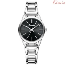 Kimio Brand Women Quartz Watches Fashion Exquisite Metal Hollow Stainless Steel Waterproof Ladies Dress Watch Relogio Feminino