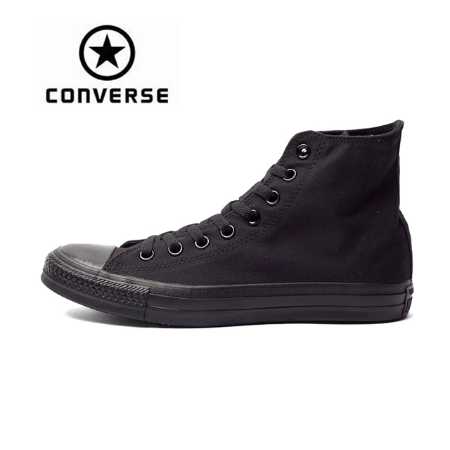 87f370493ee7 ... all star high top optical black canvas shoes 6afe4 434f2  greece  original new arrival authentic converse mens womens classic chuck taylor high  top lace ...