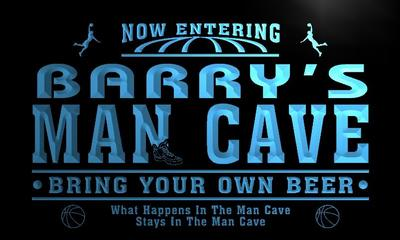 x0140-tm Barrys Man Cave Basketball Bar Custom Personalized Name Neon Sign Wholesale Dropshipping On/Off Switch 7 Colors DHL
