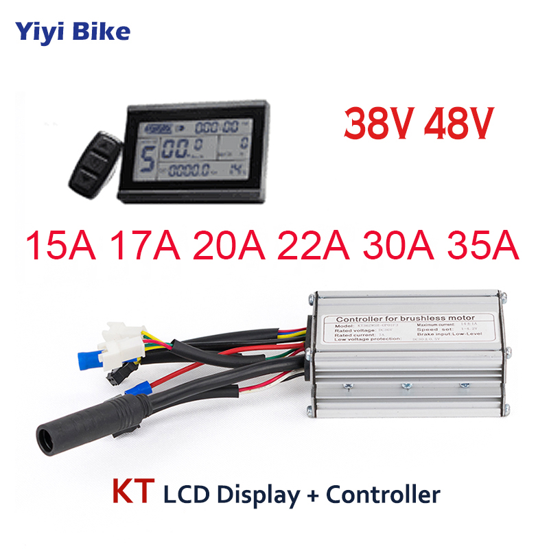 KT 36V 48V 500W 1500W Electric Bicycle Controller with LCD Display Electric Bike Scooter Brushless Controller