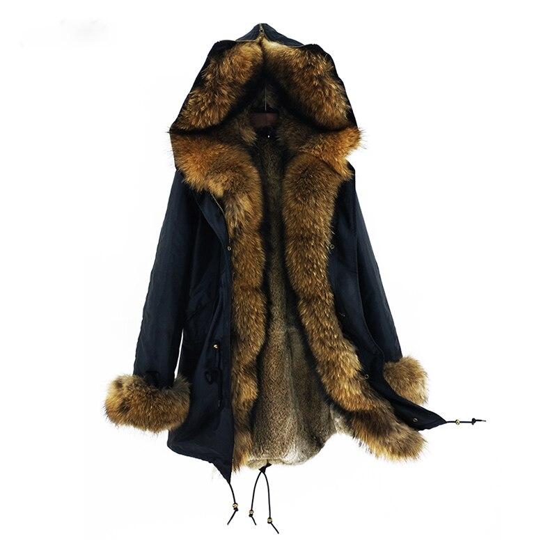 Femelle color Réel 2 Qualité D'hiver 3 4 Collection Femme 1 Veste De Mode 2018 color Color Nouvelle Chaud Haute color Fourrure Lapin Manteau Parkas BHFEOSnq