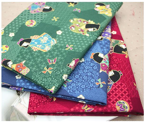 crafts materials brocade fabric,upholstery fabric for furniture,Japanese gilding and wind,50*110CM,W024