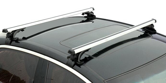 Universal Car Top Roof Rack Cross Tube Bar Cargo Luggage Carrier Rack Silver Fit For sedan 4 Door Models Vehicles