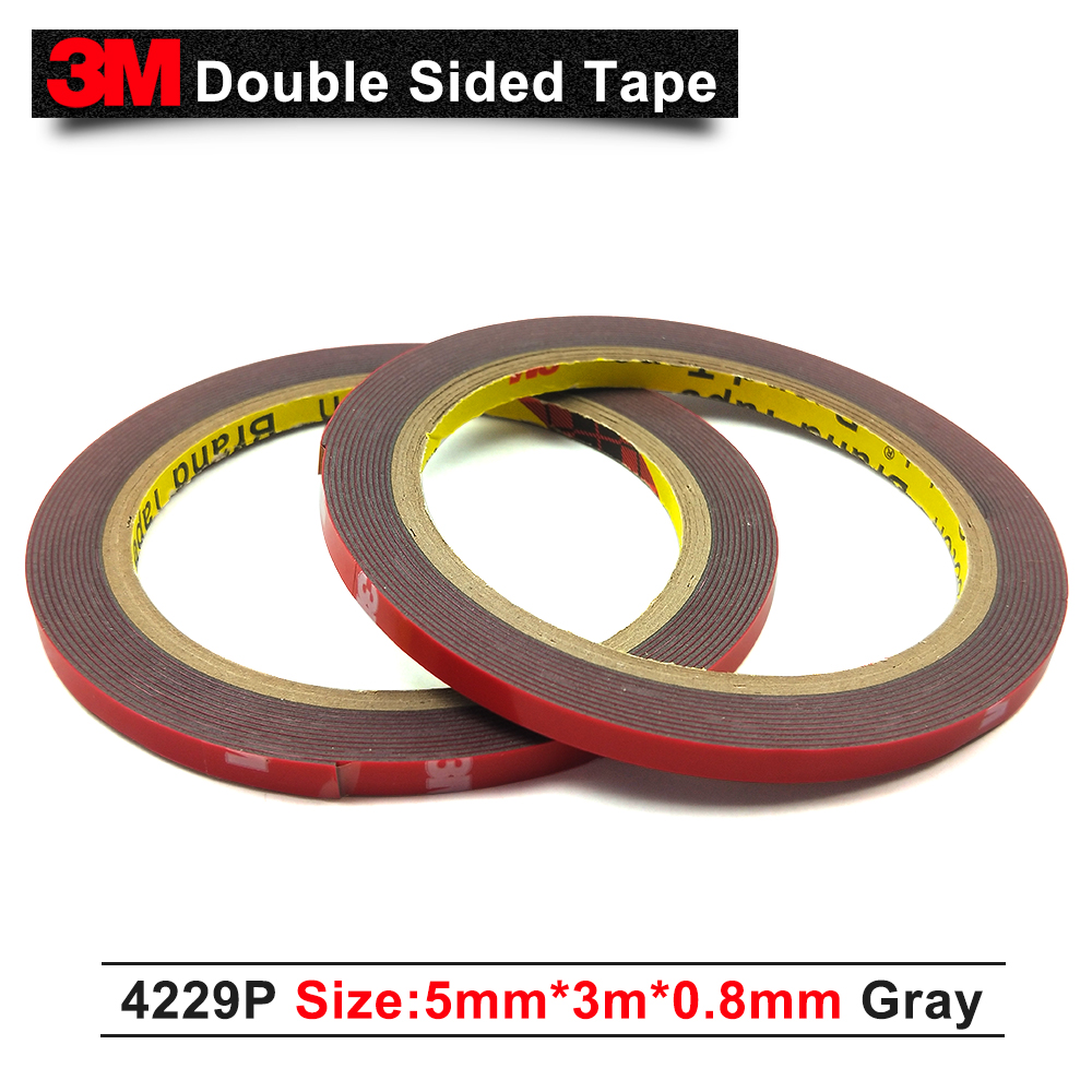 3M 4229P Automotive Pressure Sensitive Acrylic Foam Tape 0.8mm Thickness And Grey Adhesive,Size 5MM X 3M,1pcs/Lot