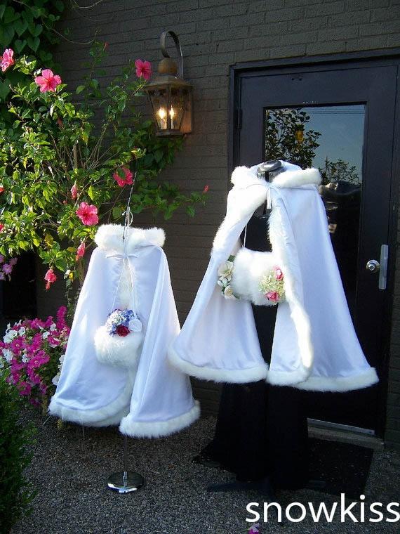 цена на Long Tea Length Girls Cape Ivory/White Wedding Cloaks Faux Fur  Jacket For Winter Kid Flower Girl Children Outerwear & Coats