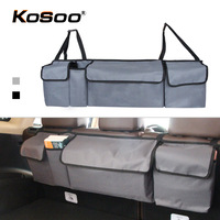 KOSOO Car Trunk Multi Use Oxford Automobile Organizer Adjustable Seat Back Bag Storage Net Auto Accessorie For SUV MPV Hatchback