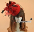Charme Kate Middleton chapéu de chapéu de lã bonito acessórios de noiva chapéus para mulheres chapéus Fascinator Birdcage