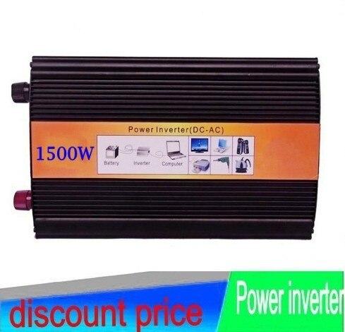 puhdasta sinusoidal DC12V 1500W Inverter pure sine wave converter solar wind power system AC adapter Power Supply AC110V/220V