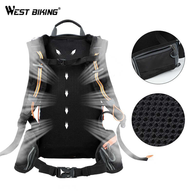 WEST BIKING Ultralight Bicycle Bag Portable Waterproof Sport Cycling Backpack10L