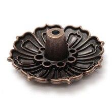 9 отверстий сиденье Цветок Статуя Конус ладан держатель тарелка курильница медная горелка